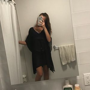 Other - NWT black flowy cover up